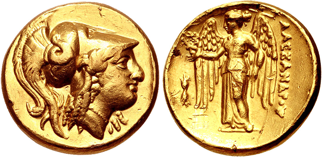 Ancient Greek Silver Decadrachm Coin by Euainetos of